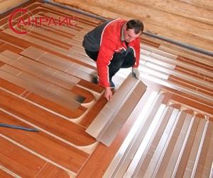 деревянный водяной теплый пол устройство теплого пола в деревянном