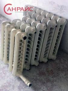 Площадь секции чугунного радиатора